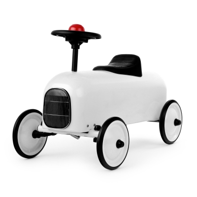 Lükatav auto Racer White
