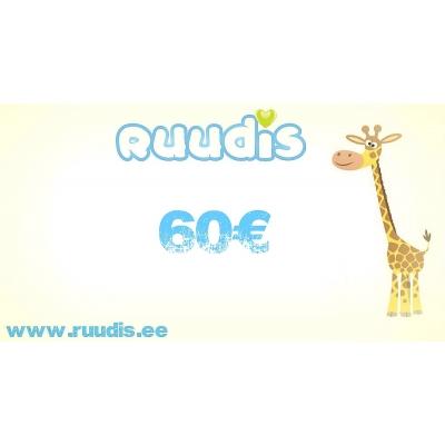 Kinkekaart 60€